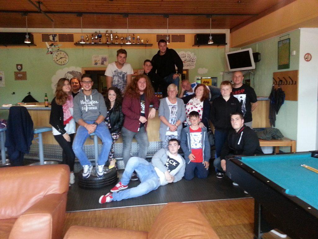 Gruppenbild Seaham 2014 im Gerlinger Jugendhaus